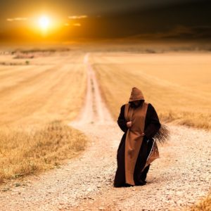 Mönch auf Reise