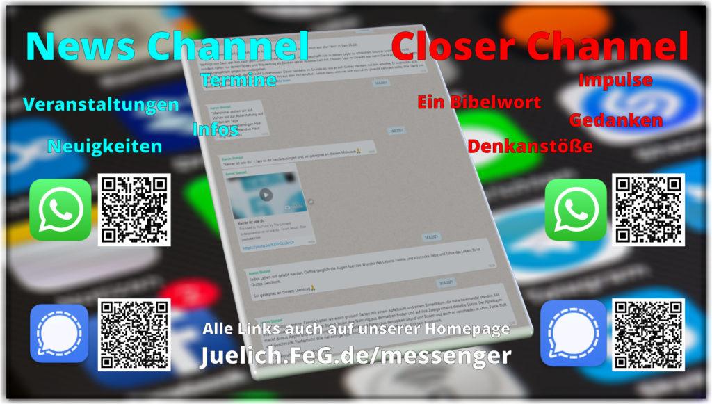 WhatsApp und Signal Gruppen für New und Impulse