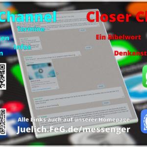 News Channel und Closer Channel der FeG Jülich bei WhatsApp und Signal